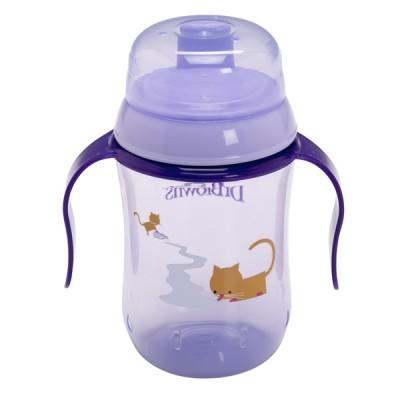 Чашка-поильник с мягким носиком Dr Brown's 270 мл, от 9 мес., фиолетовая