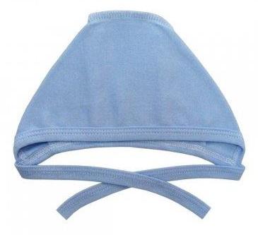 Чепчик из интерлока голубой  на рост ребенка 38 см, 46 см