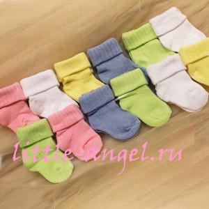 Носочки 100 % хлопок, для  недоношенных, Sullun, Турция, длина стопы 6-7 см