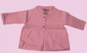 Кардиган светло-розовый из вязанного трикотажа, рост 50 см, Coccon, Франция