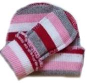 Комплект для девочки розовый  из кашкорсе шапочка и пинетки , на рост  46 см