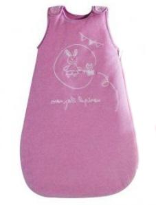 Конверт «Зайка» велюровый  утепленный, цвет розовый,   COCOON, 90 см