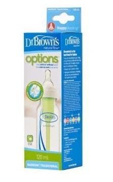 Бутылочка Dr Brown's стандартная  Options 120 мл, соска 1 уровня