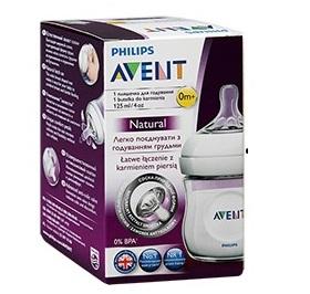 Бутылочка для кормления Philips AVENT серии Natural 125 мл 1 шт., соска медленный поток