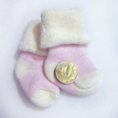 Носочки  махровые, розовые, р. 3-4 см, 4-6 см