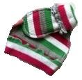 Комплект  из кашкорсе шапочка и пинетки розовый/зеленый,  46 см