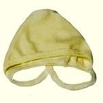 Чепчик из интерлока желтая однотонная. Рост ребенка  42 см