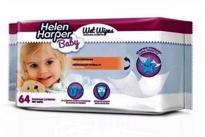 Детские влажные салфетки Helen Harper,  64 шт.