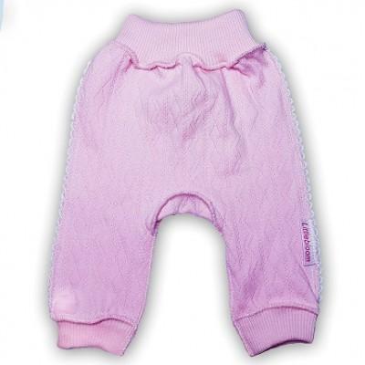 """Штанишки без следа """"Ажур"""" Розовый из интерлока,  шов мережка, на рост 42 см, 46 см"""