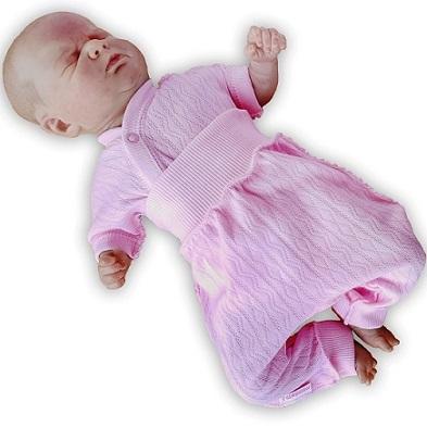 "Комплект ""Ажур"" Розовый из интерлока: распашонка и штанишки без следа,  на рост 42 см, 46 см"