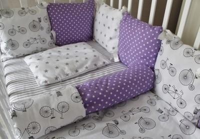 Комплект в кроватку Лавандовое настроение на 4 стороны кроватки