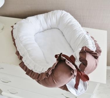 "Гнездышко кокон babynest ""Шоколад"" для младенца, размер 15х57х85см"
